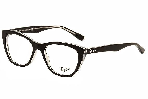 dd43f719260 Ray-Ban Women s RX5322 Eyeglasses Top Black On Transparent 53mm