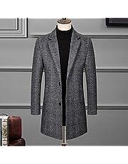 Woolen Woolen Coat, Cashmere Coat Men's Mid-Length Casual Men, Fashionable Woolen Coat Woolen Woolen Coat