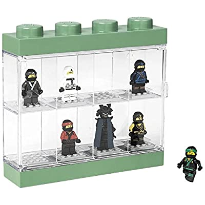 Room Copenhagen 4065 Lego NINJAGO Movie Display Case for 8 Minifigures, Stackable Box with Compartments, for Wall or Desk, Transparent/Green, zzzz-s: Home & Kitchen [5Bkhe0804286]