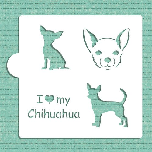 I Love My Chihuahua Cookie and Craft Stencil CM019 by Designer Stencils