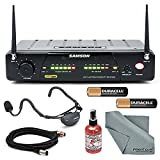 Samson AirLine 77 Fitness Head Worn Wireless Microphone System Bundle with Mic Sanitizer+Cable+Battery+ FiberTique Cloth