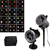 Sandistore Celebration Led Projector Light for Year Round -12 Slides, Remote Control, 16 ft Cable, Waterproof Landscape Lights, in/Outdoor, Snowflake,Halloween, Family/Woman's Day,Birthday, Easter