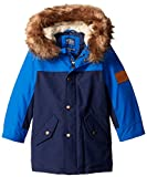 Joules Little Boys' Ambleside Padded Coat, French Navy, 4