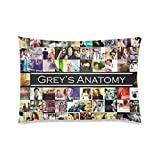 Custom Rectangle Pillowcase Pillow Case Cover Grey's Anatomy Pattern Design Standard Size 20x30 inch (Two Sides)