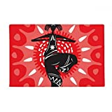 Dance Celebrate Silhouette Mexico Mexican Anti-slip Floor Mat Carpet Bathroom Living Room Kitchen Door 16''x30''Gift