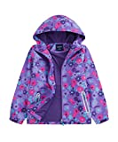 M2C Girls Outdoor Floral Fleece Lined Light Windproof...