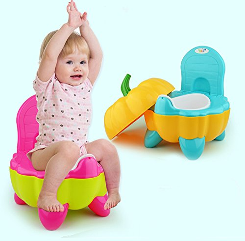 Entrenamiento de inodoro de cartón lindo Entrenamiento de orina de orina de bebé Potty Training para 0-6 años de edad Bebés fáciles de llevar-Rojo Malayas