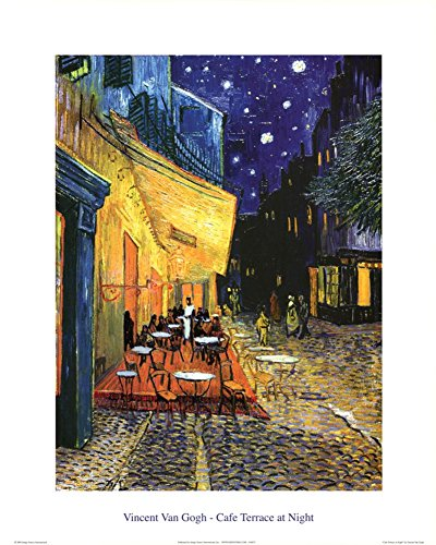 - Vincent Van Gogh Cafe Terrace At Night Art Print Poster Mini Poster 16 x 20in