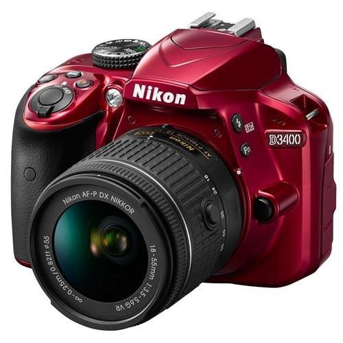 Nikon D3400 w/ AF-P DX NIKKOR 18-55mm f/3.5-5.6G VR (Red)