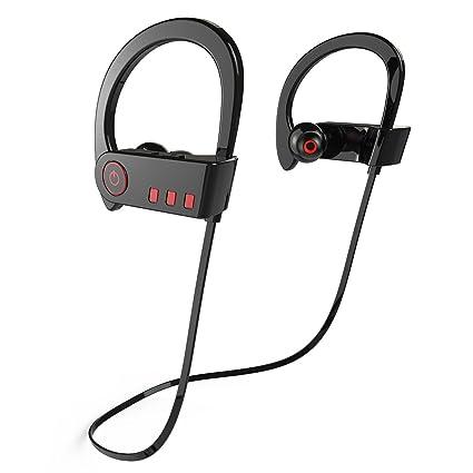 Hieha Auriculares Deporte Bluetooth Correr 4.1+EDR In Ear Casco Inalámbrico Estéreo con Sonido Potente