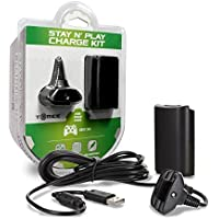 Tomee Charge Kit - Black for Microsoft Xbox 360