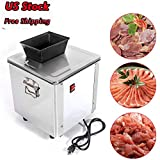 Meat Grinders, Feiuruhf 550W Electric Meat Grinder 110V Commercial Grade Stainless Steel Cutter Meat Cutting Machine with 3.5mm Blade Convenient for Cutting Mutton and Beef Shredding Kitchen Tools, US STOCK