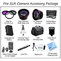 Ultimate Camera Accessory Package For The Panasonic Lumix DMC-LX5 DMC-LX7 Digital Cameras. Includes 3 Piece Filter Kit, Wide Angle Lens, Telephoto Lens, 4 Piece Macro Close Up Set, Soft Carrying Case, Full Size Tripod, Panasonic BCJ13 Replacement Battery, Rapid Travel Charger, Shoe Mount Flash, Starters Kit, Lens Pen & CS Microfiber Cleaning Cloth