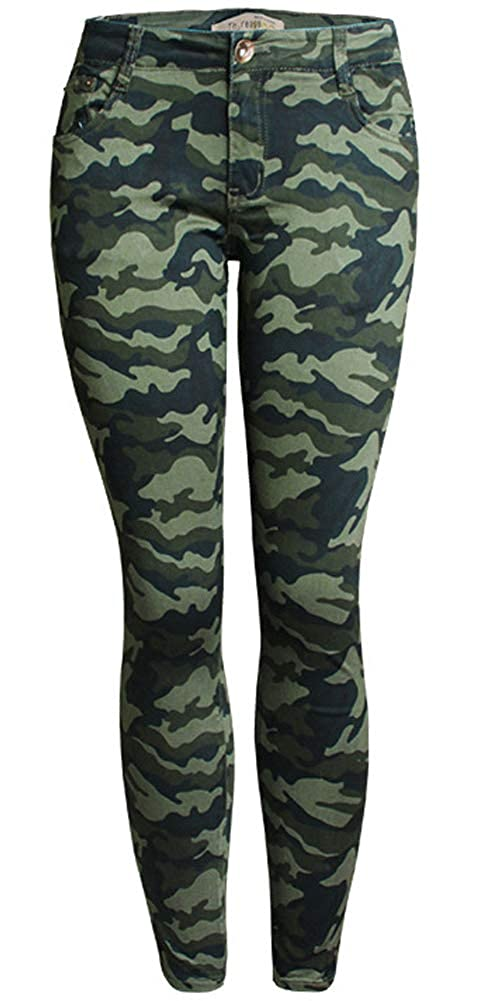 lexiart Womens Skinny Jeans Stretch Camouflage Cargo Joggers Pencil Denim Pants ¡­