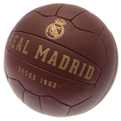 Official Licensed Real Madrid - Retro Heritage Leather Football ...