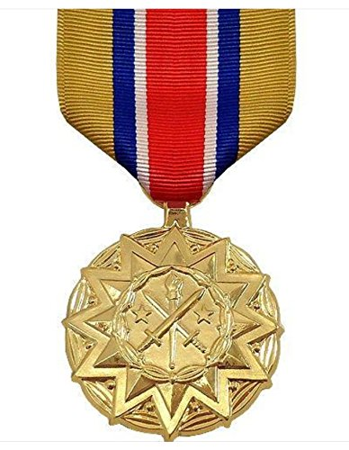 Vanguard FULL SIZE MEDAL ARMY NATIONAL GUARD RESERVE COMPONENT - 24K GOLD PLATED