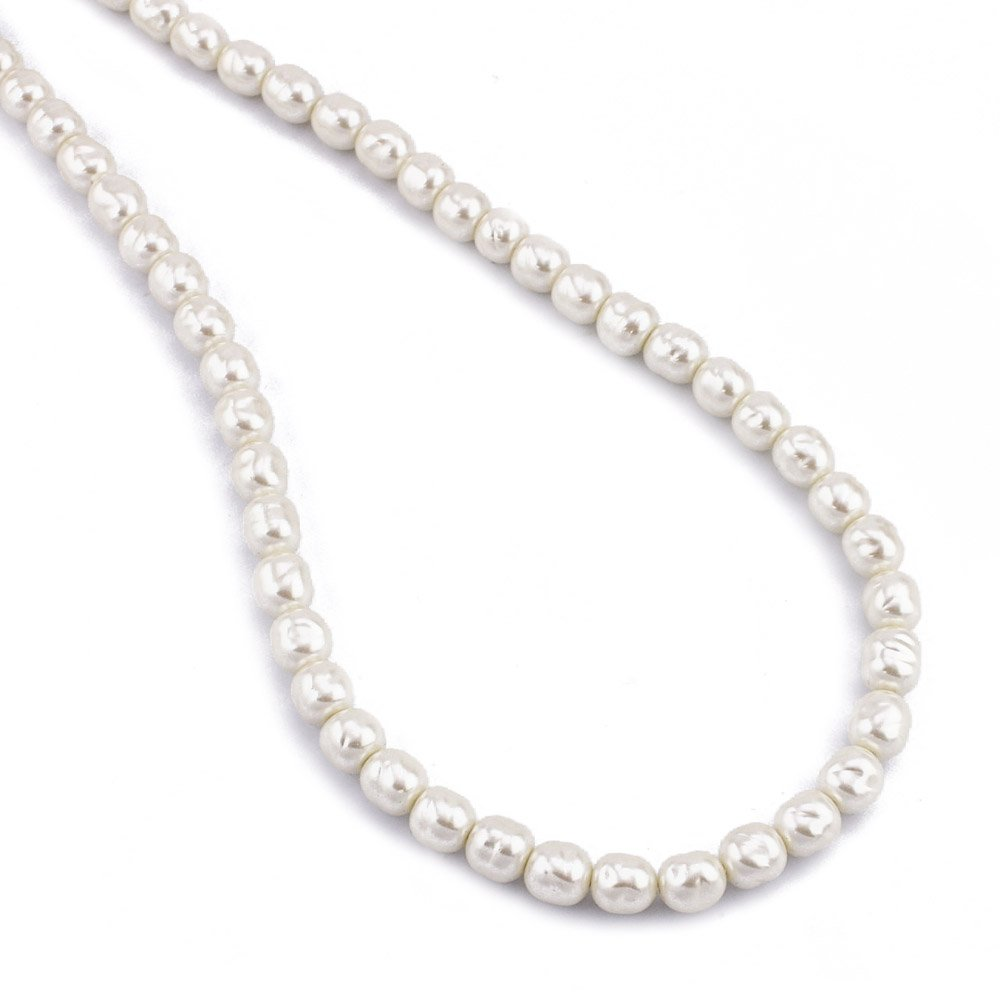 Women's Jewelry Glass Pearl Necklace 24
