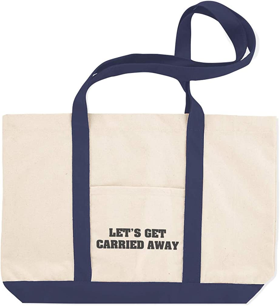 Canvas Shopping Tote Bag Lets Get Carried Away Inspiration /& Motivation Live Today Beach for Women