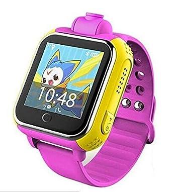 Kids GPS reloj inteligente JM13 3 G lbs WiFi ubicación Q730 bebé Smartwatch con cámara niños reloj de pulsera para IOS Android: Amazon.es: Electrónica
