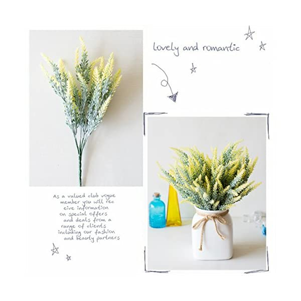 CATTREE-Artificial-Lavender-Plastic-Plants-Fake-Flowers-Bouquet-Home-Bridal-Wedding-Office-Party-Garden-Balcony-Indoor-Outdoor-DIY-Centerpieces-Arrangements-Simulation-Craft-Decoration-Yellow-4pcs