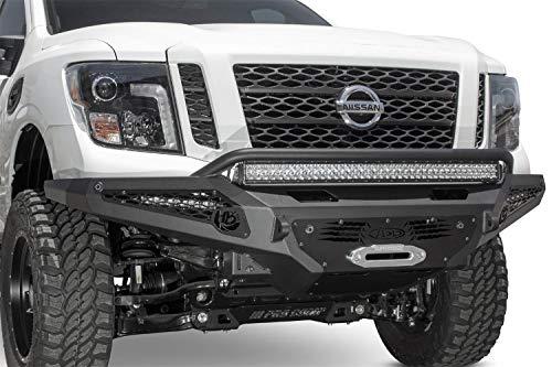(Addictive Desert Designs 16-18 Nissan Titan XD HoneyBadger Front Bumper w/Winch)