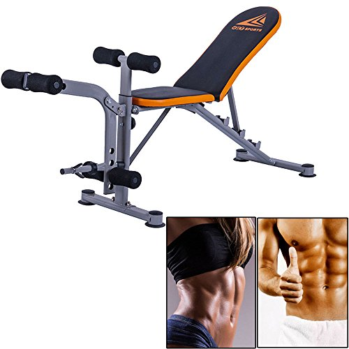 MB SportAdjustable Weight Bench Exercise Lifting Abs Workout Incline Flat Decline Press by MB Sport