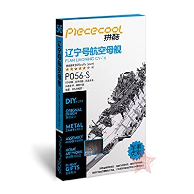 Piececool 3D Metal Nano Puzzle Plan Liaoning Cv-16 Aircraft Carrier P056-S Model Kits DIY 3D Laser Cut Jigsaw Toys