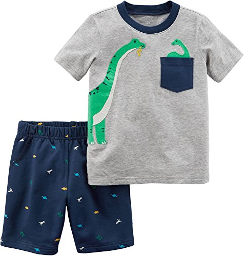 Carter's Baby Boys' 2 Piece Dino Tee and Woven Shorts Set 6 Months