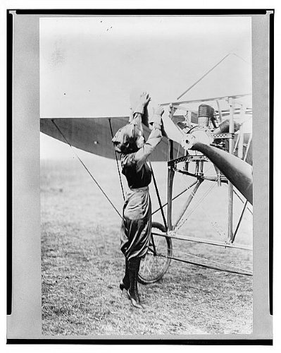 Infinite Photographs Photo: Harriet Quimby Turing Over Plane Propeller,1911