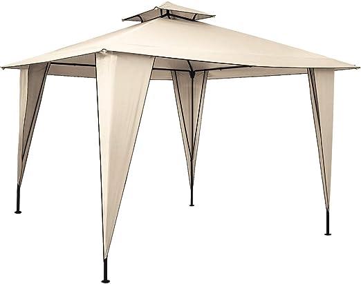 Deuba Pabellón de Jardín cenador Sairee Crema 3, 5x3, 5m Carpa para Playa Patio Impermeable para Eventos Fiestas Camping: Amazon.es: Jardín