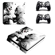 Adventure Games - PS4 SLIM - Batman, Joker (Grab) - Playstation 4 Vinyl Console Skin Decal Sticker + 2 Controller Skins Set