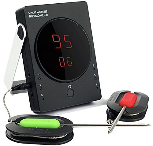 Grill Kings Bluetooth Barbecue Thermometer, Set of 2 Probes