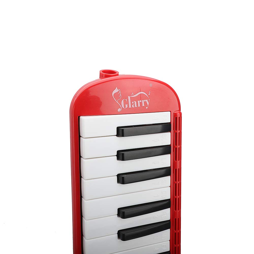 Festnight 37 Key Melodica Mouthpiece Bag Piano Style Pianica with Carrying Bag and Cleaning Cloth 37-Key Portable Melodica Red by Festnight (Image #6)