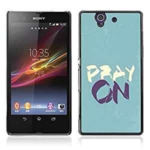 Bible Case Cover SONY XPERIA Z / PRAY ON /