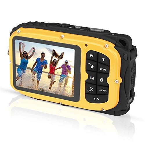 GordVE KG003 2.7 Inch LCD Cameras 16MP Digital Camera Underwater 10m Waterproof Camera+ 8X Zoom-Yellow