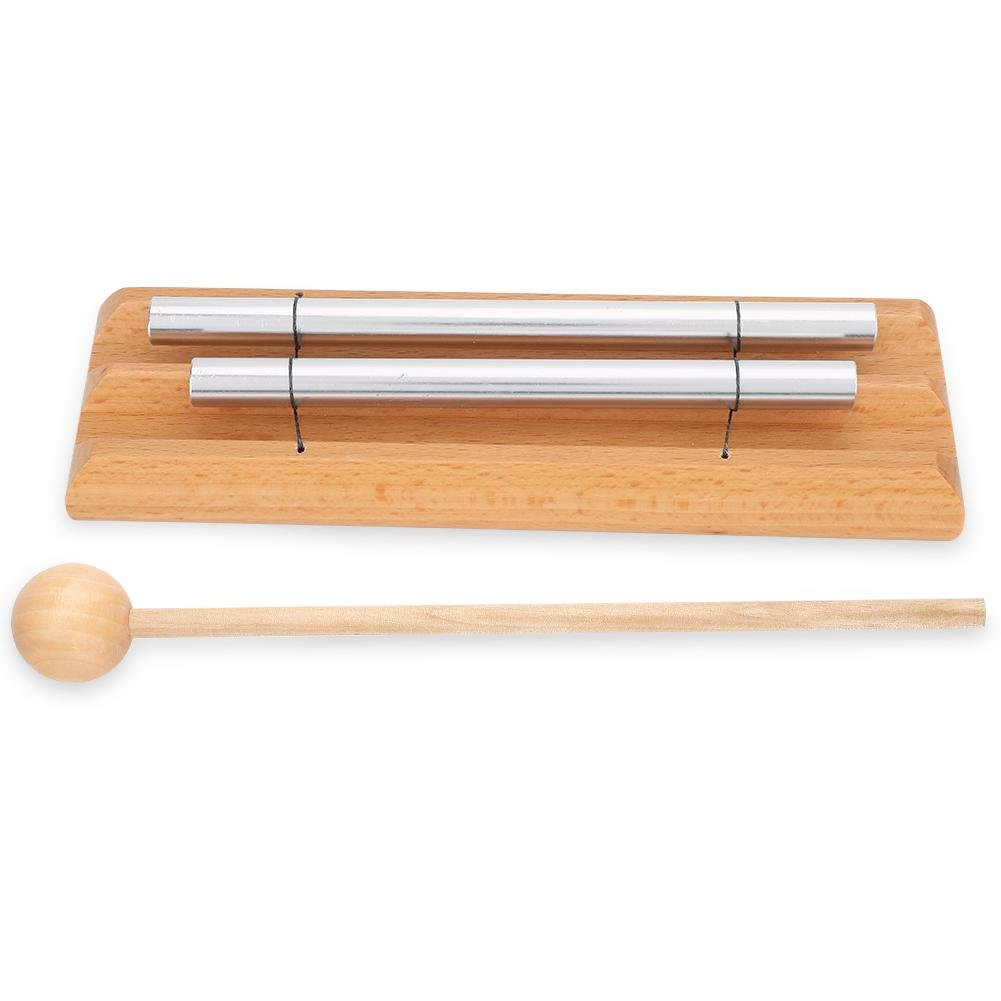 Meditation Chime with Mallet, 2 Tone Percussion Instrument Musical Education Toy VGEBY VGEBYgs0imytg42