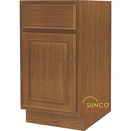Sunco Inc 18u0027 Oak Base Cabinet B18rt Kitchen Cabinet Finished Ready To  Assemble