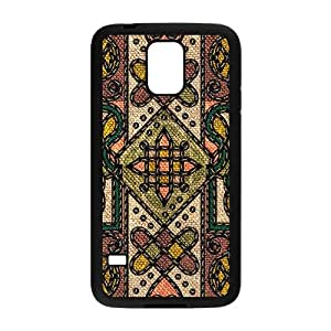 Classic Flowerr Fabric Totem Pattern Custom Protective Hard Phone Cae For Samsung Galaxy S5