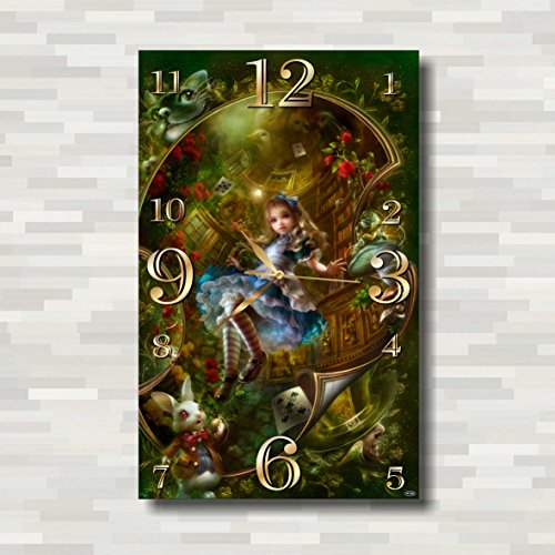 Alice in Wonderland Handmade Wall Clock (Get unique décorr