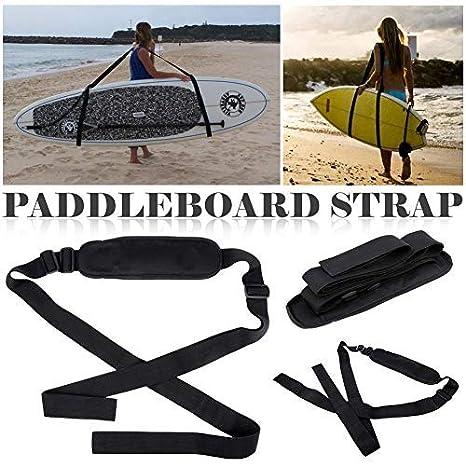 Dedeka Tabla de Surf Correa Paddle Board Correa para Hombro Ajustable Accesorios para Tabla de Surf Carrito de Surf Carrier Kayak Correa de Transporte ...