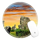 Luxlady Round Gaming Mousepad 34536346 Megalithic monuments menhirs in Carnac Brittany France