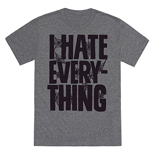 LookHUMAN I Hate Everything Heathered Gray Medium Mens/Unisex Fitted Triblend Tee