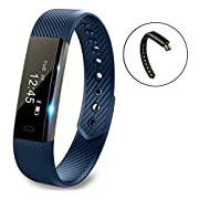 Fitness Tracker Vigorun YG3 Activity Tracker Smart Bracelet Point Touch Smart Band Wireless Bluetooth/Call Remind/Calorie/Pedometer/Sleep Monitor/Compatible with Android&iOS Smart Phones