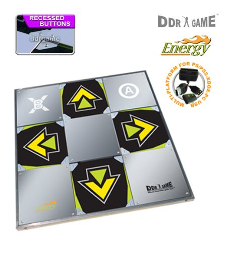 DDR Game Energy Metal Dance Pad for PC/ PS2/ PS1/ Wii/ Xbox (Ddr Pad)