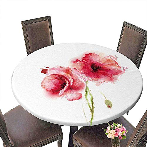 PINAFORE Picnic Circle Table The Two Flowering red Poppies for Family Dinners or Gatherings 55