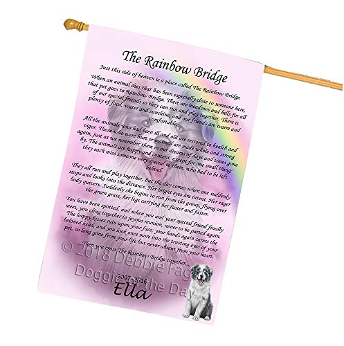 (Doggie of the Day Rainbow Bridge Border Collie Dog House Flag FLG56247)