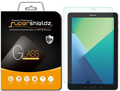 Supershieldz for Samsung Galaxy Tab A 10.1 (S Pen Version) (SM-P580, SM-P585) Tempered Glass Screen Protector, Anti Scratch, Bubble Free