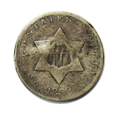 1852 Three Cent Piece 3¢ Good (Silver Three Cent Piece Good)