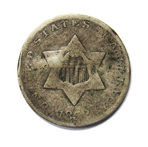 1852 Three Cent Piece 3¢ Good