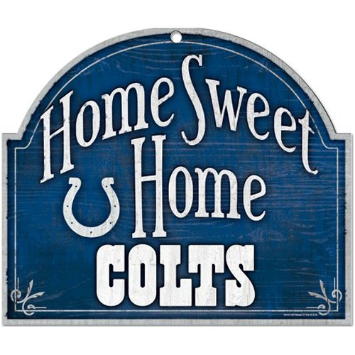 Wincraft NFL Indianapolis Colts Wood Arched Sign, 10 x 11, Black